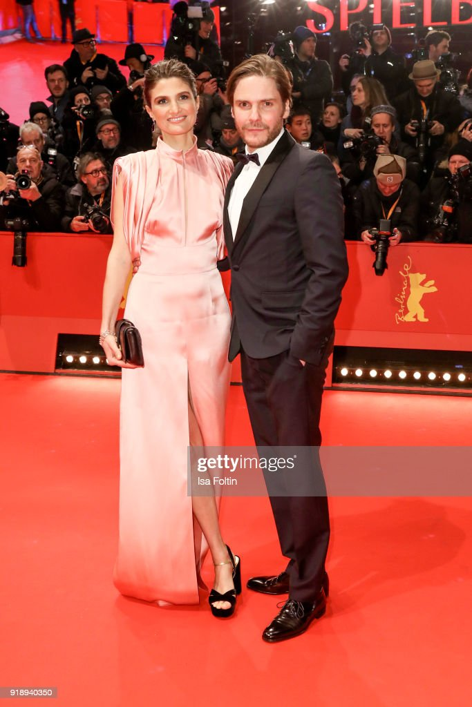 German actor Daniel Bruehl and his partner Felicitas Rombold attend the Opening Ceremony & 'Isle of Dogs' premiere during the 68th Berlinale International Film Festival Berlin at Berlinale Palace on February 15, 2018 in Berlin, Germany.