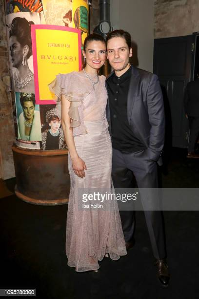 German actor Daniel Bruehl and his wife Felicitas Rombold during the Bulgari party with the motto #Starsinbulgari on February 7 2019 in Berlin Germany