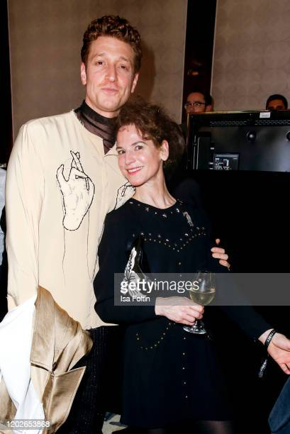German actor Daniel Donskoy and German actress Bibiana Beglau attend the Medienboard Party on the occasion of the 70th Berlinale International Film...