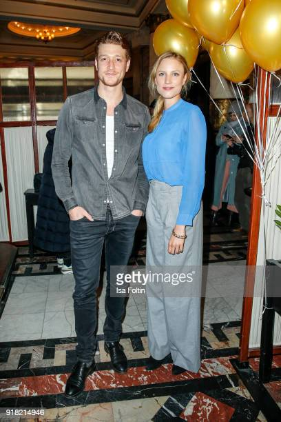 German actor Daniel Donskoy and German actress Isabel Thierauch attend the Blaue Blume Awards 2018 at Grosz on February 14 2018 in Berlin Germany