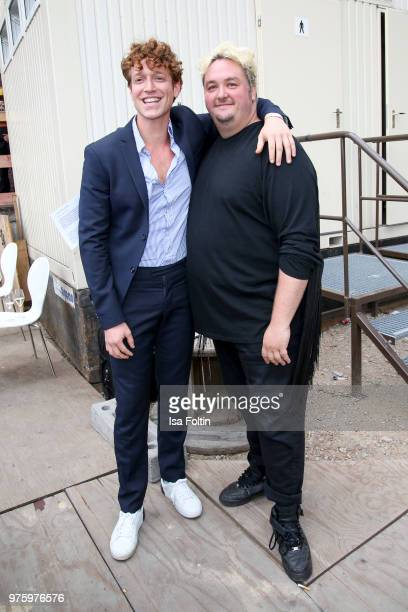 German actor Daniel Donskoy and German presenter Daniel Zillmann during the nominees announcement of the German Play Award 2018 at...
