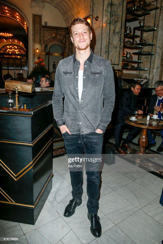 German actor Daniel Donskoy attends the Blaue Blume Awards 2018 at Grosz on February 14, 2018 in Berlin, Germany.