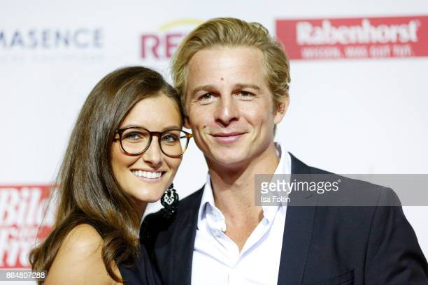 German actor Daniel Roesner and his girlfriend Cara Stalder attend the 'Goldene Bild der Frau' award at Hamburg Cruise Center on October 21 2017 in...