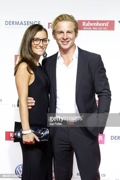 German actor Daniel Roesner and his girslfriend Cara Stalder attend the 'Goldene Bild der Frau' award at Hamburg Cruise Center on October 21 2017 in...