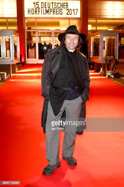 German actor David Bennent arrives at the Deutscher Hoerfilmpreis at Kino International on March 21 2017 in Berlin Germany