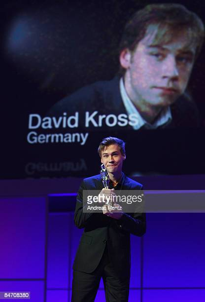 German actor David Kross attends the presentation of European Shooting Stars as part of the 59th Berlin Film Festival at the Berlinale Palast on...