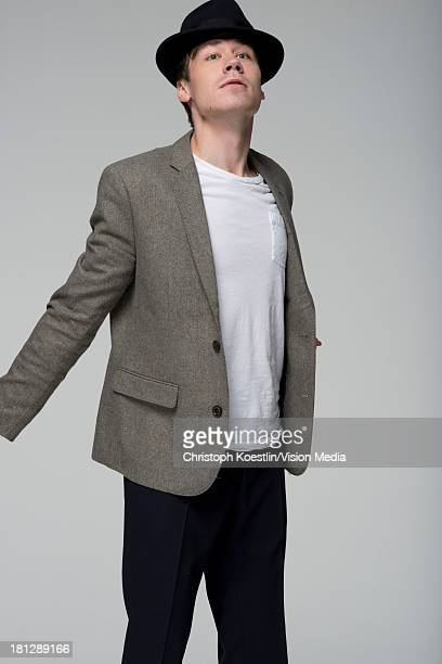German actor David Kross poses during a portrait session on October 23 2012 in Munich Germany