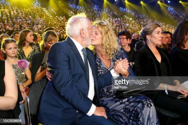 German actor Dieter Hallervorden and his girlfriend Christiane Zander during the Goldene Henne on September 28 2018 in Leipzig Germany