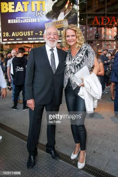 German actor Dieter Hallervorden and his partner Christiane Zander during the musical premiere of 'BEAT IT Die Show ueber den King of Pop' at Stage...