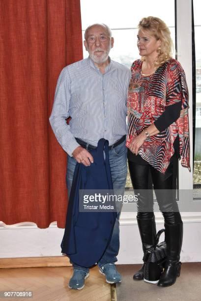 German actor Dieter Hallervorden and his partner Christiane Zander during the BERLIN2018 Magazin ReleaseParty on January 19 2018 in Berlin Germany