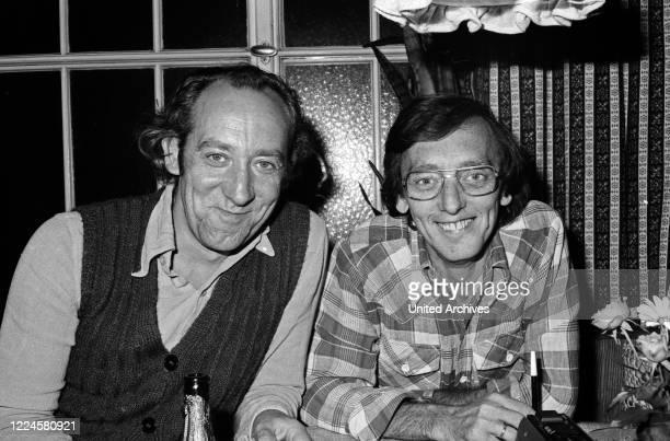 German actor Dieter Hallervorden with photographer Heinz Browers Germany 1970s