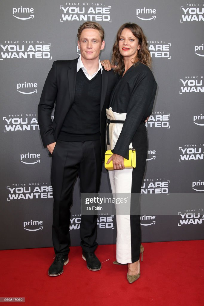 German actor, director and producer Matthias Schweighoefer and German actress Jessica Schwarz attend the premiere of the second season of 'You are wanted' at Filmtheater am Friedrichshain on May 16, 2018 in Berlin, Germany.