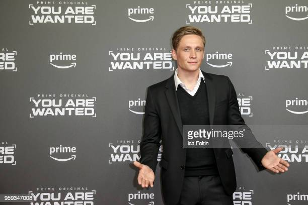 German actor director and producer Matthias Schweighoefer attends the premiere of the second season of 'You are wanted' at Filmtheater am...