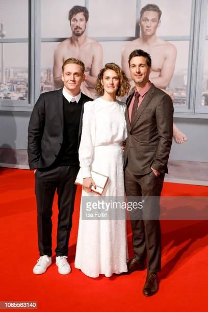 German actor, director and producer Matthias Schweighoefer, German-Swiss actress Miriam Stein and German actor Florian David Fitz attend the German...