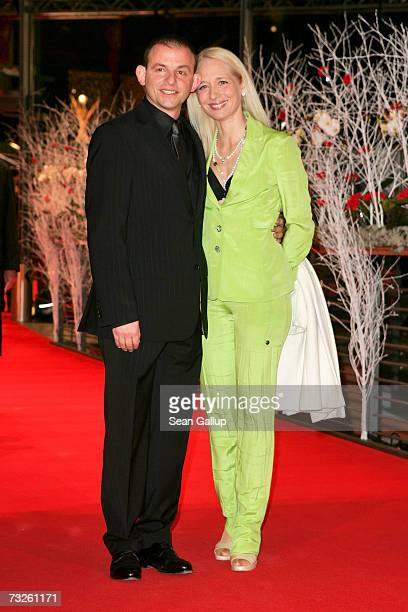 German actor Dominique Horwitz and Anna Wittig arrive to attend 'La Vie en Rose' Premiere and the Opening Night of the 57th Berlin International Film...