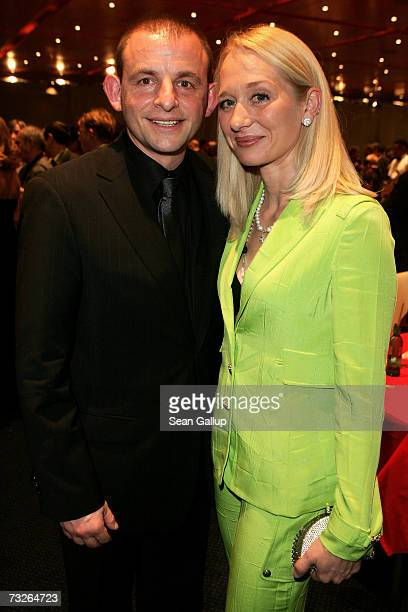 German actor Dominique Horwitz and Anna Wittig attend the Opening Party of the 57th Berlin International Film Festival on February 8 2007 in Berlin...