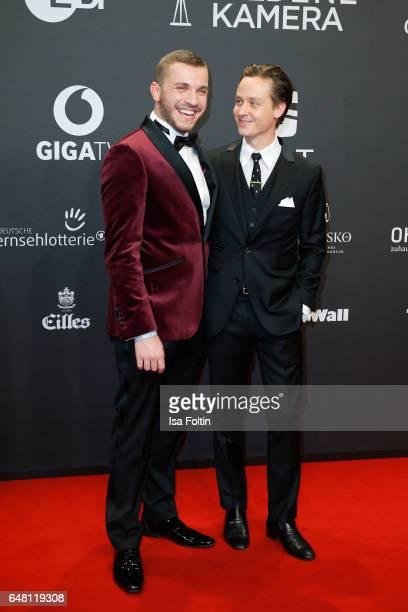 German actor Edin Hasanovic and german actor Tom Schilling arrive for the Goldene Kamera on March 4 2017 in Hamburg Germany