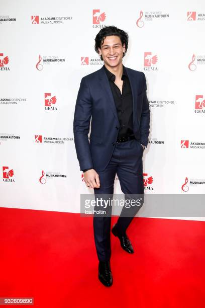 German actor Emilio Sakraya during the German musical authors award on March 15 2018 in Berlin Germany