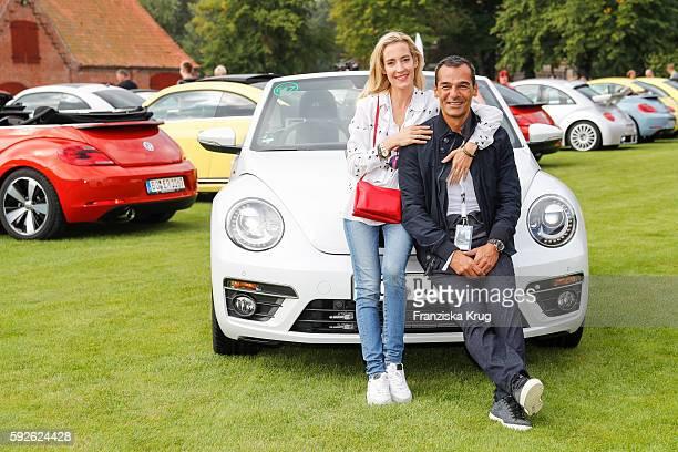 German actor Erol Sander and his wife Caroline Goddet attend the 12th Beetle Sunshine Tour To Travemuende the 12th Beetle Sunshine Tour on August 20...