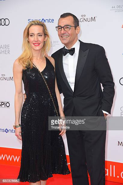 German actor Erol Sander and his wife Caroline Godet attend the German Film Ball 2017 at Hotel Bayerischer Hof on January 21 2017 in Munich Germany