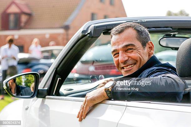 German actor Erol Sander attends the 12th Beetle Sunshine Tour To Travemuende the 12th Beetle Sunshine Tour on August 20 2016 in Luebeck Germany
