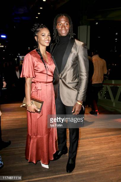 """German actor Eugene Boateng and guest at the award ceremony of the """"Deutscher Schauspielpreis"""" at Zoo Palast on September 13, 2019 in Berlin, Germany."""