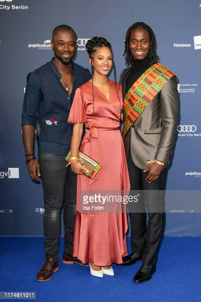 German actor Eugene Boateng and guests at the award ceremony of the Deutscher Schauspielpreis at Zoo Palast on September 13 2019 in Berlin Germany