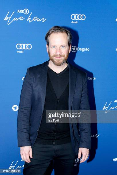 German actor Fabian Busch attends the Blue Hour Party hosted by ARD during the 70th Berlinale International Film Festival at Museum der Kommunikation...