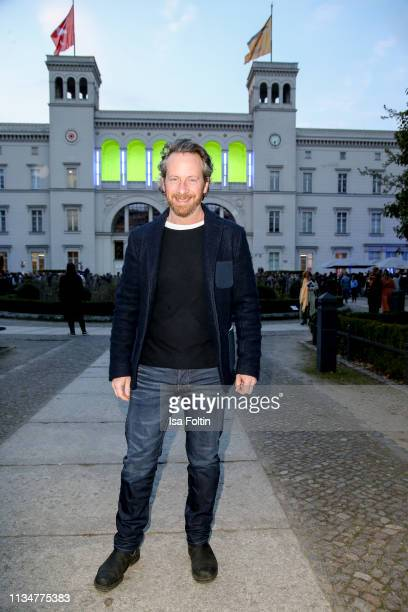 """German actor Fabian Busch attends the """"Flying Pictures"""" World Premiere on April 3, 2019 in Berlin, Germany."""