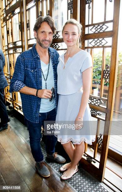German actor FalkWilly Wild and German actress AnneCatrin Maerzke attend the Thomas Sabo Press Cocktail during the MercedesBenz Fashion Week Berlin...