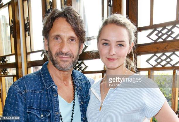 German actor Falk-Willy Wild and German actress Anne-Catrin Maerzke attend the Thomas Sabo Press Cocktail during the Mercedes-Benz Fashion Week...