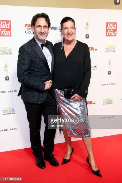 German actor FalkWilly Wild and German actress Katy Karrenbauer attend the annual Goldene Bild der Frau award on October 23 2019 in Hamburg Germany