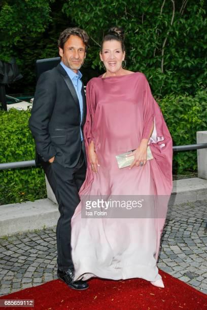 German actor FalkWilly Wild and German actress Katy Karrenbauer attend the Bayerischer Fernsehpreis 2017 at Prinzregententheater on May 19 2017 in...