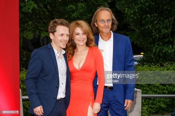 German actor Ferdinand SchmidtModrow German actress Silke Popp and german actor Eisi Gulp attend the Bayerischer Fernsehpreis 2017 at...