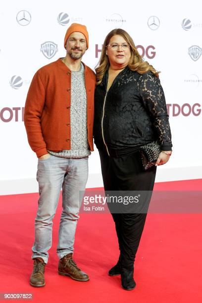 German actor Florian David Fitz and German comedian Ilka Bessin attend the 'Hot Dog' world premiere at CineStar on January 9 2018 in Berlin Germany