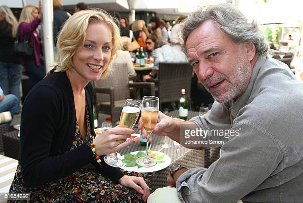 German actor Gerd Silberbauer and his wife Julia Stelter attend the Agencies Summer Party during the Munich Film Festival on June 21 2008 in Munich...