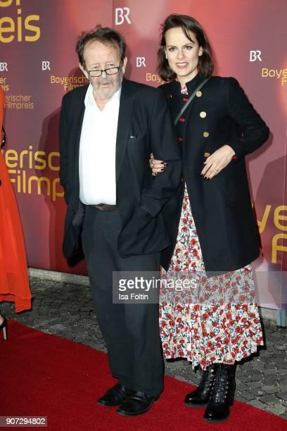 German actor Gernot Roll and his wife Rita Serra Roll attend the Bayerischer Filmpreis 2017 at Prinzregententheater on January 21 2018 in Munich...