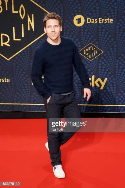 German actor Hanno Koffler attends the 'Babylon Berlin' Premiere at Berlin Ensemble on September 28 2017 in Berlin Germany
