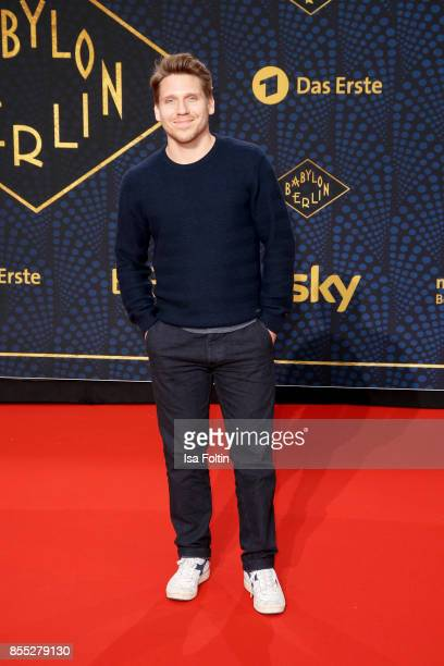 German actor Hanno Koffler attends the 'Babylon Berlin' Premiere at Berlin Ensemble on September 28 2017 in Berlin Germany