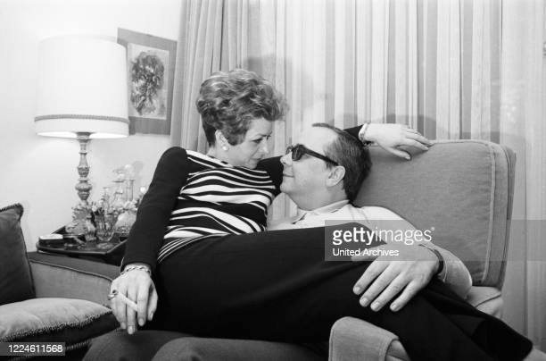 German actor Hans Korte with his wife Karin Eickelbaum, Germany, 1960s.