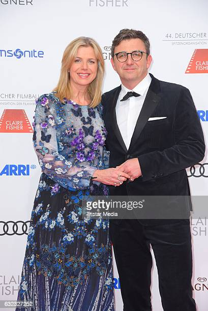 German actor Hans Sigl and his wife Susanne Kemmler attend the German Film Ball 2017 at Hotel Bayerischer Hof on January 21, 2017 in Munich, Germany.