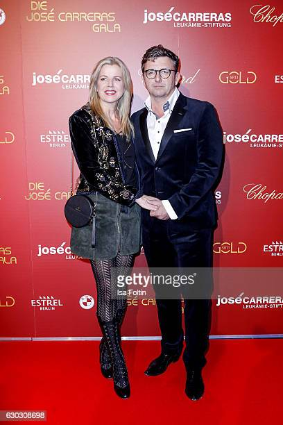 German actor Hans Sigl and his wife Susanne Sigl attend the 22th Annual Jose Carreras Gala on December 14 2016 in Berlin Germany