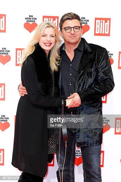 German actor Hans Sigl and Susanne Kemmler attend the Ein Herz Fuer Kinder gala on December 3 2016 in Berlin Germany