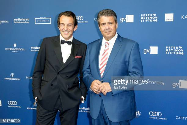 German actor HansWerner Meyer and German foreign minister Sigmar Gabriel during the 6th German Actor Award Ceremony at Zoo Palast on September 22...