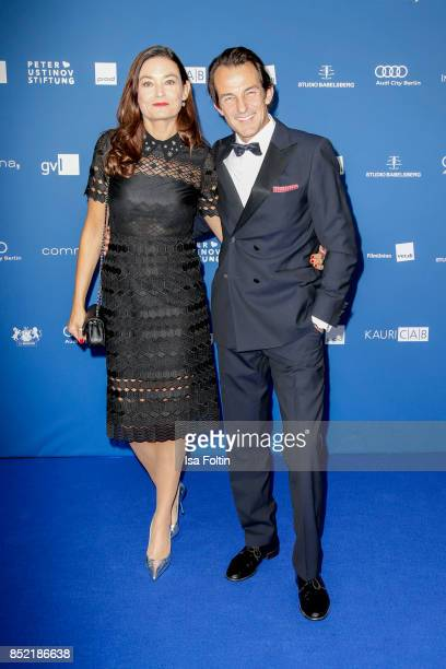 German actor Hans-Werner Meyer and his wife Jacqueline Macaulay during the 6th German Actor Award Ceremony at Zoo Palast on September 22, 2017 in...