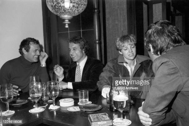 German actor Harald Leipnitz with friends Germany 1970s