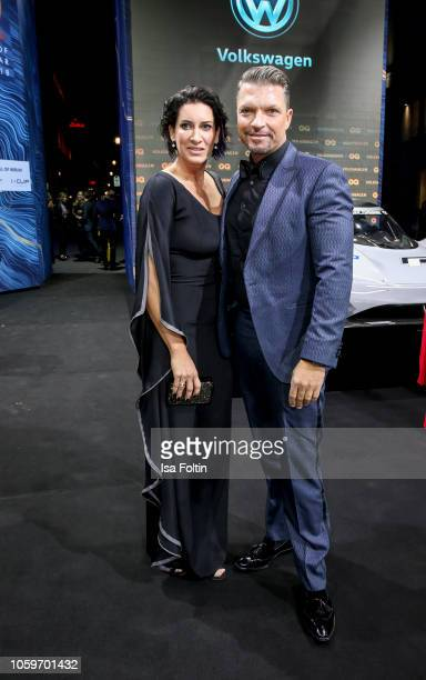 German actor Hardy Krueger Jr and his wife Alice Krueger arrive for the 20th GQ Men of the Year Award at Komische Oper on November 8 2018 in Berlin...