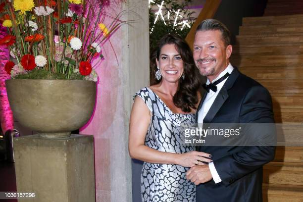 German actor Hardy Krueger Jr and his wife Alice Roessler attend the Dreamball 2018 at WECC Westhafen Event Convention Center on September 19 2018 in...