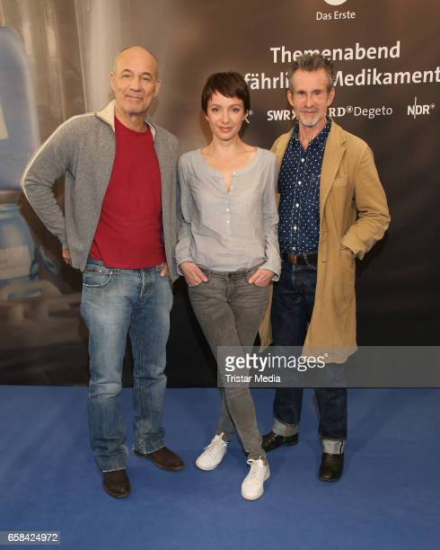 German actor Heiner Lauterbach german actress Julia Koschitz and german actor Ulrich Matthes attend the 'Perfect Easter Table' in favor of the Heinz...