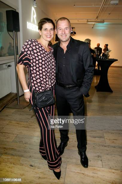 German actor Heino Ferch and his wife Marie Jeanette Ferch during the Rodenstock Eyewear Show 'A New Vision of Style' at Isarforum on January 24 2019...